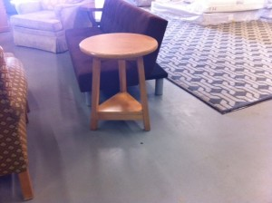 Beige End Table