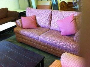 Red Sofa Sleeper $100