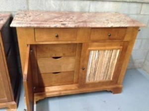 8 Drawer Marble Top Dresser