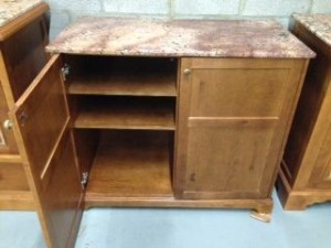 Marble Top TV Stand