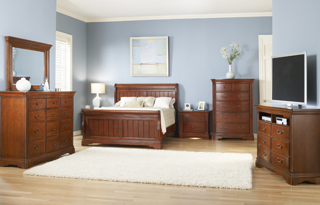greenbriar 4 pc sleigh bed